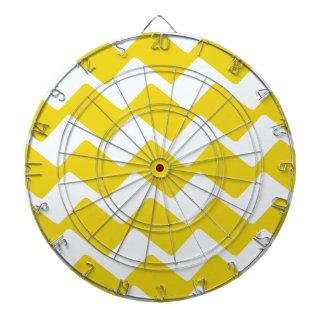 Gelbe und weiße gewellte Sparren Dartscheibe