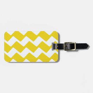 Gelbe und weiße gewellte Sparren Kofferanhänger