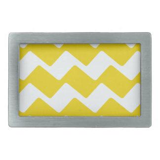 Gelbe und weiße gewellte Sparren Rechteckige Gürtelschnalle