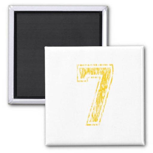 Gelbe Uni #7 Kühlschrankmagnete