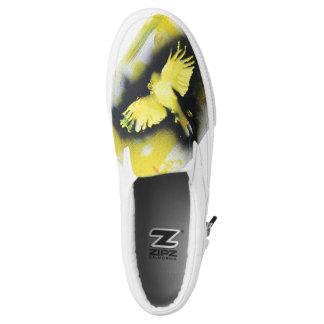 Gelbe Vogel-Turnschuhe Slip-On Sneaker