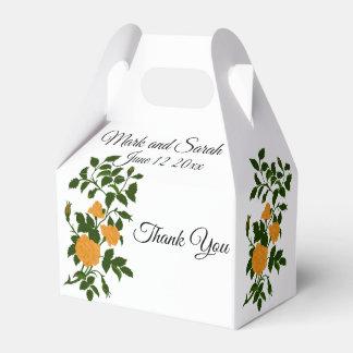 Gelbe Wedding Rosen oder Jahrestags-Feier Geschenkschachtel