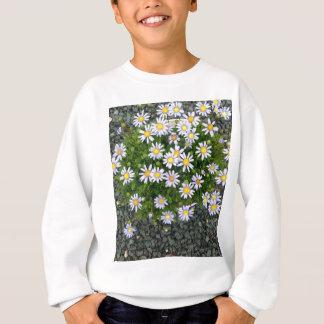 Gelbe weiße Margarita-Blumen mit grauen Kieseln Sweatshirt