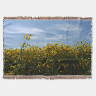 Gelbe Wildblume-Feld-Landschaft Decke