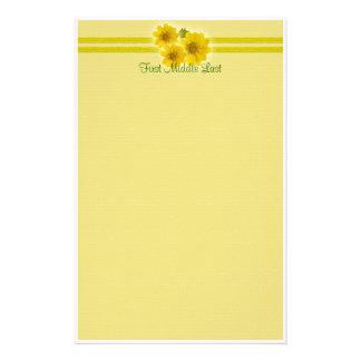 Gelbe Wildblumen Briefpapier
