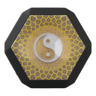 Gelbe Ying Yang Mandala Schwarze Bluetooth Lautsprecher