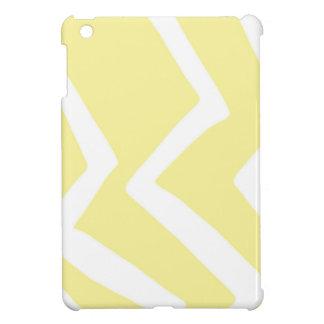 Gelbe Zickzack-Entwurfs-Muster-Grafik iPad Mini Hülle