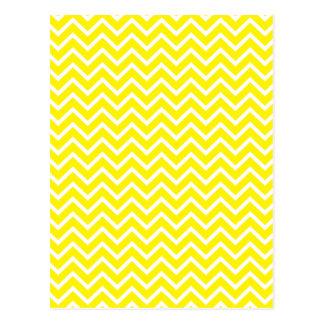 Gelbe Zickzack Zickzack-Streifen Postkarte