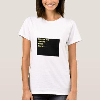 gelbe Ziegelsteinstraße T-Shirt