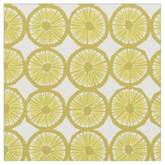 gelbe Zitrone schneidet modernen Druck des Musters Stoff