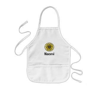 Gelbe Zitronen-Scheibe Kinderschürze
