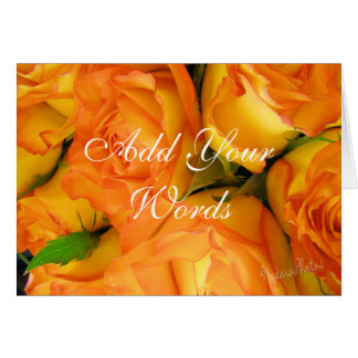 Gelbe Zweifarbige Rose-fertigen besonders an Grußkarte