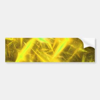 Gelber abstrakter autoaufkleber