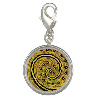 Gelber abstrakter Charme Charm