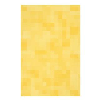 Gelber abstrakter Entwurf 14 X 21,6 Cm Flyer