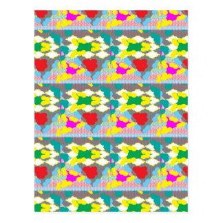 Gelber abstrakter grafischer Blumen-mit Postkarten