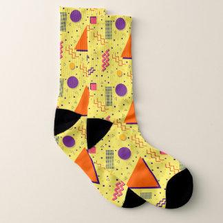 Gelber abstrakter Memphis-Entwurf Socken