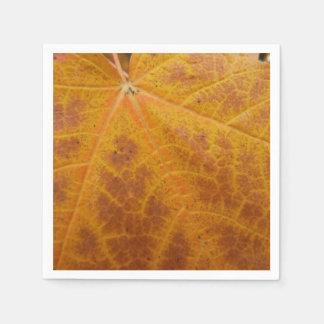 Gelber Ahorn-Blatt-Herbst-abstrakte Natur Serviette
