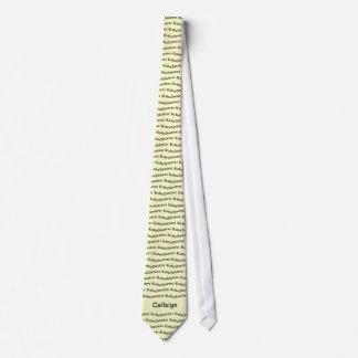 Gelber Amateurradio und Rufzeichen Krawatte