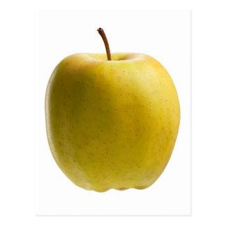 Gelber Apfel Postkarte