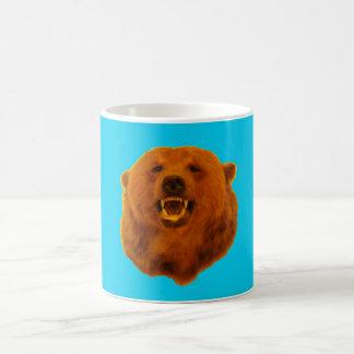 Gelber Bär - Blau 0n Kaffeetasse