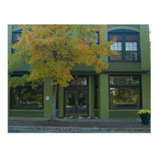 Gelber Baum-Grün-Speicher Postkarte