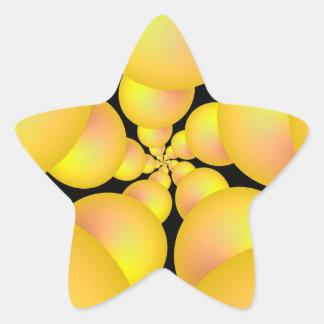 Gelber Bereich-Spiralen-Aufkleber Stern-Aufkleber