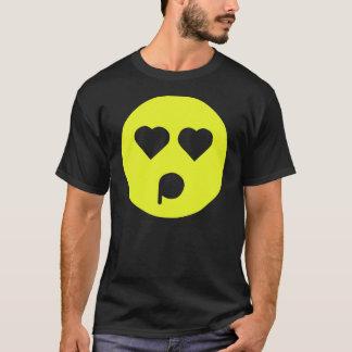 Gelber betörter Emoticon T-Shirt