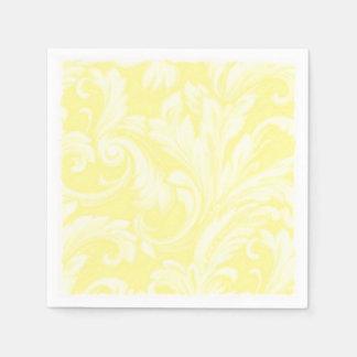 Gelber Blendungs-Damast Papierserviette