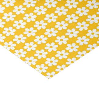 Gelber Blumen-Druck glatt Seidenpapier