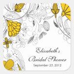 Gelber BlumenBlumen-Brautparty-Bevorzugungs-Aufkle