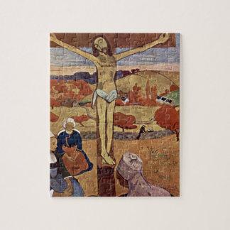 Gelber Christus durch Paul Gauguin, Vintage feine Puzzle