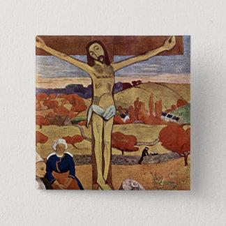 Gelber Christus durch Paul Gauguin, Vintage feine Quadratischer Button 5,1 Cm