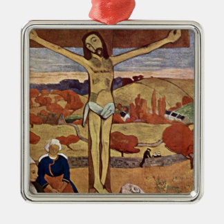 Gelber Christus durch Paul Gauguin, Vintage feine Silbernes Ornament