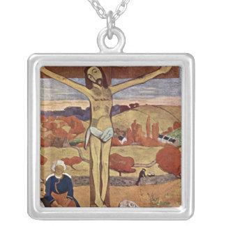 Gelber Christus durch Paul Gauguin, Vintage feine Versilberte Kette
