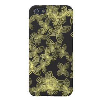 Gelber Digi-Blume Entwurf iPhone 5 Hülle