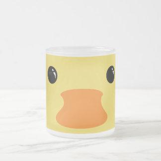 Gelber Enten-Tier-Gesichts-Entwurf Mattglastasse