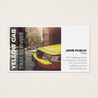 Gelber Fahrerhaus-Taxi-Service-mutiges modernes Visitenkarte