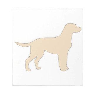 Gelber Farbsilo Labrador retrievers Notizblock