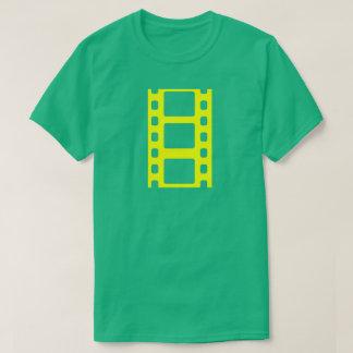 Gelber Film-Streifen T-Shirt