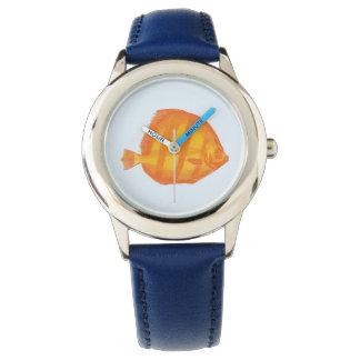 Gelber Fisch :: Kinder Uhr