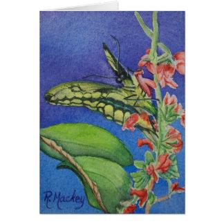 Gelber Frack-Schmetterling Notecard Karte