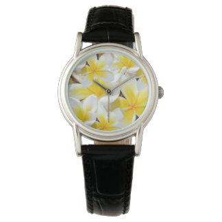Gelber Frangipani-Blumenstrauß, Armbanduhr