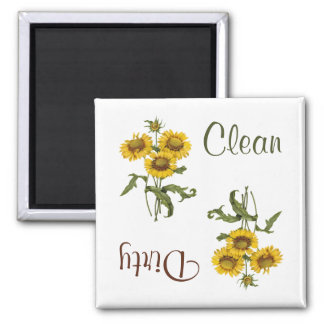 Gelber Gaillarda Blumen-Spülmaschinen-Magnet Quadratischer Magnet