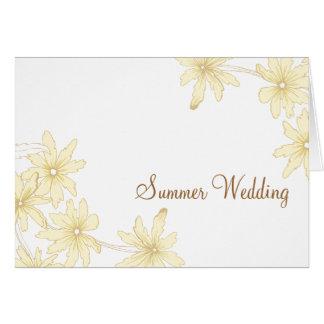 Gelber Gänseblümchen-Sommer Save the Date Wedding Karte