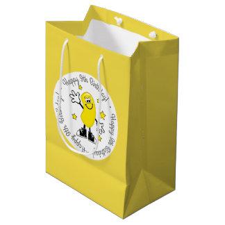 Gelber Gelee-Bohnen-personalisierter Geburtstag Mittlere Geschenktüte
