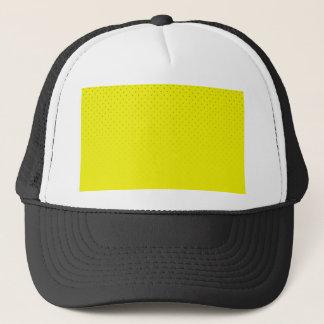 Gelber gepunkteter Hintergrund Truckerkappe