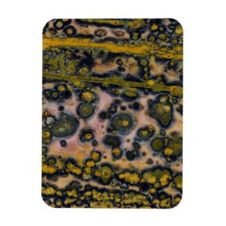 Gelber gepunkteter Ozean-Jaspis Magnet