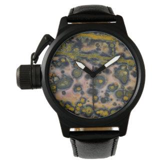 Gelber gepunkteter Ozean-Jaspis Uhr
