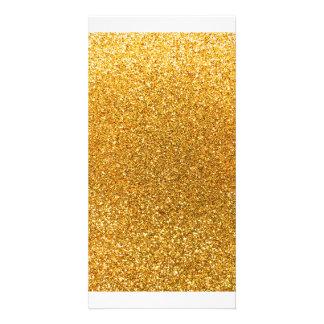 Gelber Glitter Photogrußkarten